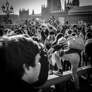Jongliervorführung, Westminster Bridge, London, England von Bertil van Beek