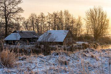 Boerderij in de winter van Daan Kloeg