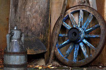 stilleven boerderij werktuig van miranda  Leenheer