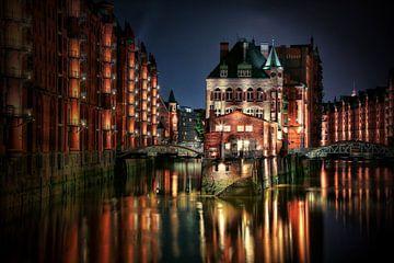 Hambourg - château entouré d'eau sur Sabine Wagner