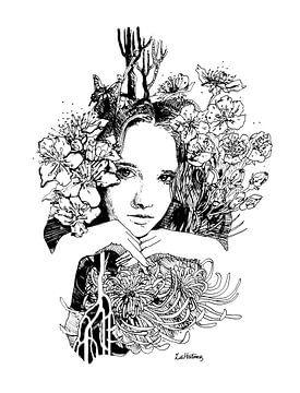 Nymphe Dryade von Zoë Hoetmer