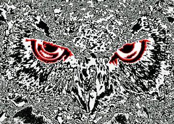 Owl's face #7 van Leopold Brix