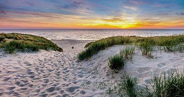 Paal 15 prachtige Zonsondergang - Texel von Texel360Fotografie Richard Heerschap