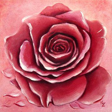 Rozenbloesem handgeschilderd van Marita Zacharias