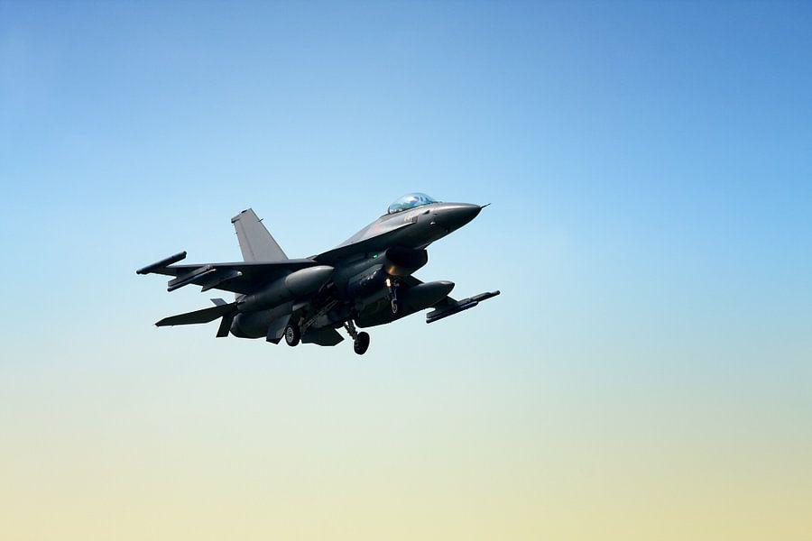 F-16 Landing van Jan Brons
