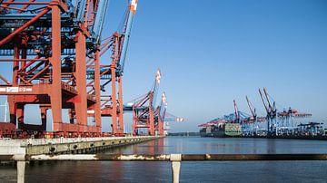 Hamburg container terminal van Norbert Sülzner