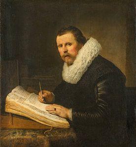 Portret van een man met kraag, Rembrandt van
