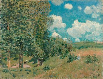 Die Straße von Versailles nach Saint-Germain, Alfred Sisley