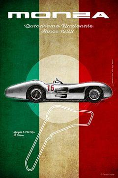 Mercedes W196 Streamline Monza Vintage von Theodor Decker