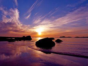 Scandinavische zonsondergang