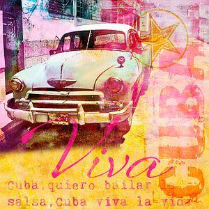 Viva Cuba Oldtimer van Andrea Haase