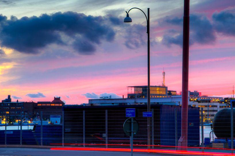 Göteborg Harbour - Dramatic Sky van Colin van der Bel