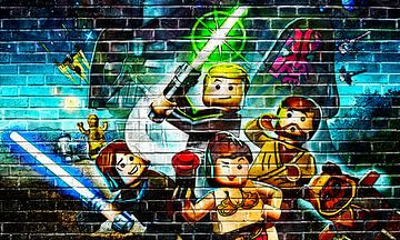 LEGO Starwars muur graffiti collectie 2 van Bert Hooijer