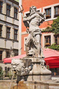 De Neptunusfontein bevindt zich in Görlitz, Duitsland. van Gunter Kirsch