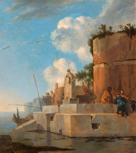 Eine Küstenruine in Italien, Jan Asselijn von Meesterlijcke Meesters