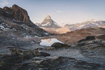 Matterhorn Schwarzee uitzicht in Zwitserland van Tom in 't Veld