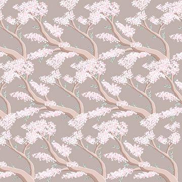 Lente in Japan - Sakura bloesem boom van Studio Hinte