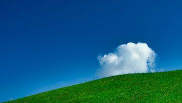 Der Optimismus des blauen Himmels vor uns von Rik Verslype