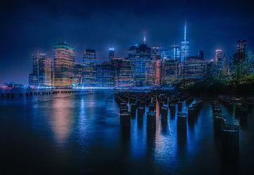 Uitzicht vanuit het Brooklyn Bridge Park van Joris Pannemans - Loris Photography