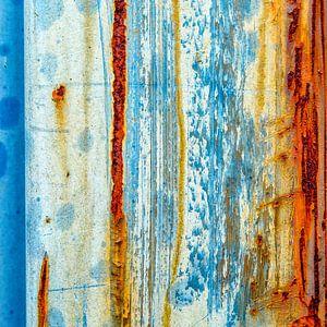 Roestig blauw en bruin - studie 2 van