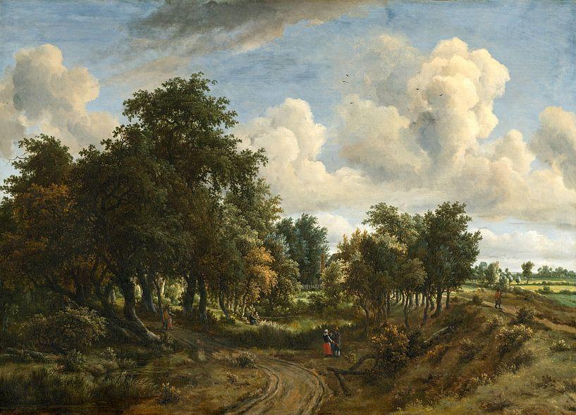 een bebost Landschap, Meindert Hobbema van Liszt Collection