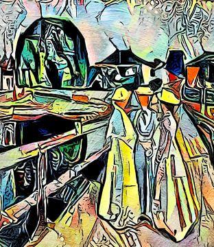 Meisje op de pier van zam art