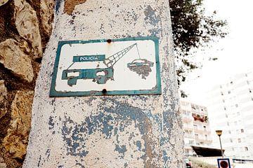 Straßenschild-Abschleppkontrolle von Sjoerd van der Hucht