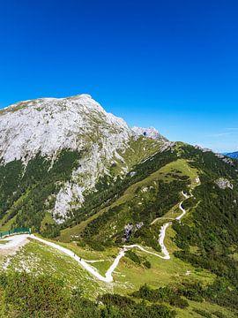 Uitzicht vanaf de berg Jenner op het landschap van het Berchtesgadener Land van Rico Ködder
