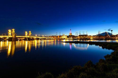 Stadsfront van de Hanzestad Kampen aan de IJssel van Sjoerd van der Wal