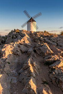 Historische windmolen van Don Quichot, in La Mancha (Spanje).
