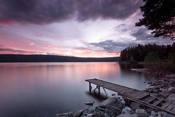 Sonnenuntergang mit Steg von Studio voor Beeld