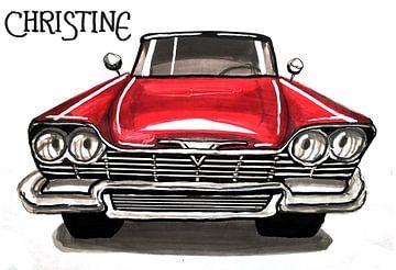 Illustratie van een auto van Lonneke Kolkman