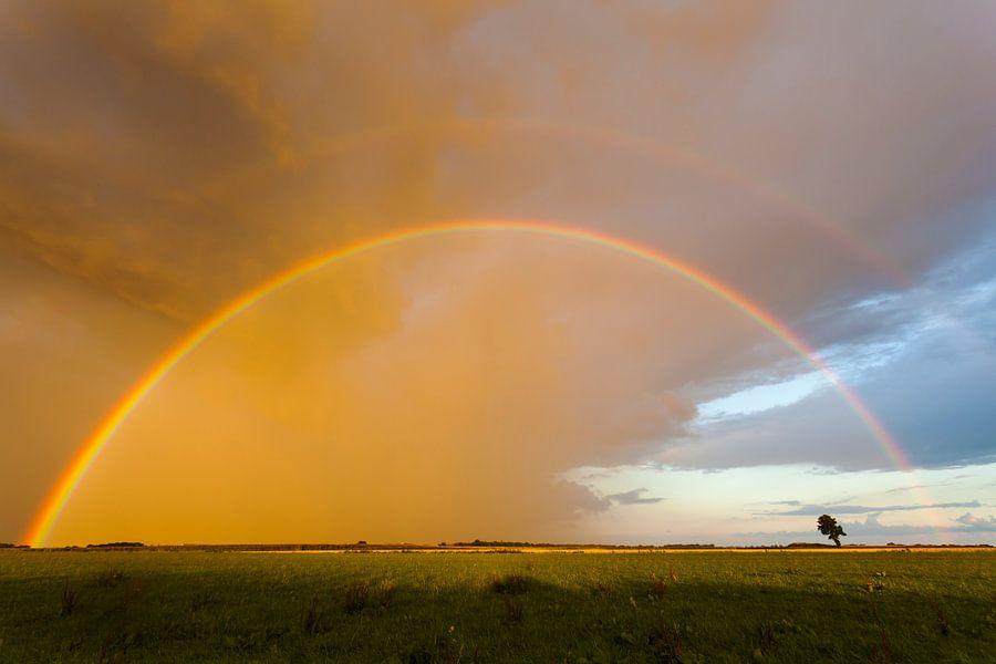 Regenboog in de lucht