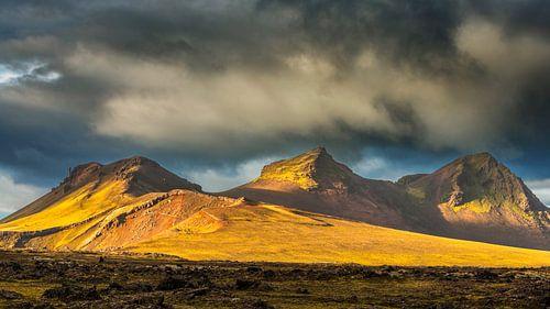 Landschap in het binnenland van IJsland van