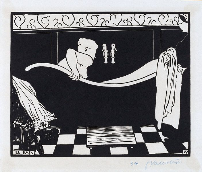 Das Bad - Félix Vallotton, 1894 von Atelier Liesjes