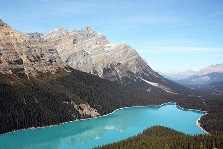 Blauw meer Canada