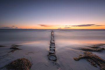 Hiddensee bij zonsondergang van Robin Oelschlegel