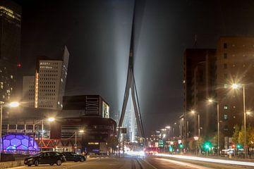 Erasmusbrug by night van Eddie Visser