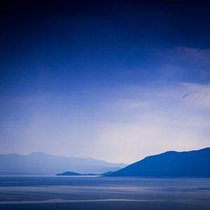 Uitzicht vanaf het Griekse schiereiland Pilion