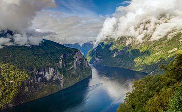 Geirangerfjord, Noorwegen van Adelheid Smitt
