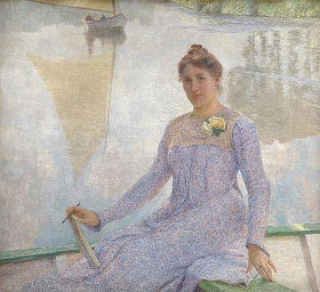 Porträt der Künstlerin Anna De Weert, Emile Claus