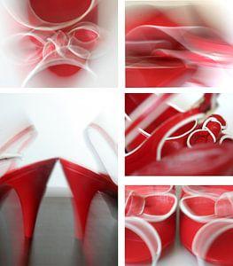 Hot red shoes van Sabine Bison