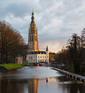 De grote kerk in Breda, Noord Brabant van Jos Pannekoek