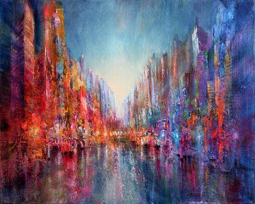 Stadt am Fluss II von Annette Schmucker