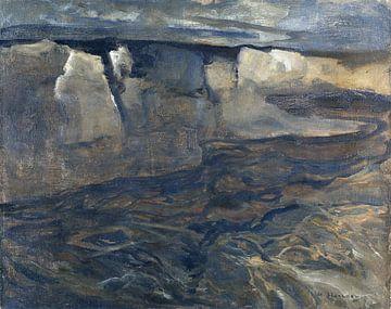 Dachauer Landschaft mit weißem Felsen, ADOLF HÖLZEL, 1900 von Atelier Liesjes
