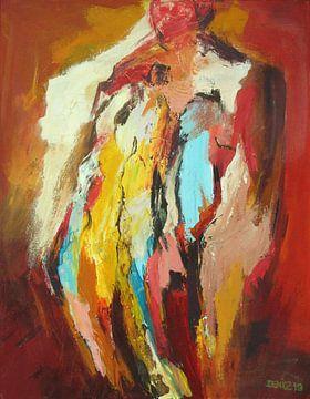abstrakt rood van Deniz Paulat
