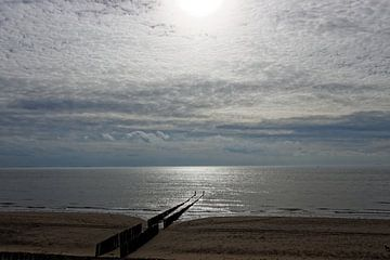 Strand Zoutelande van Patrick van Lent