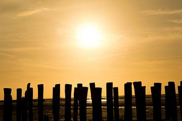zonsondergang strandpalen von Moïse Verzuu