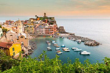 Cinque Terre im Wasser von Damien Franscoise
