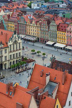 Wroclaw plein van boven. van Robin van Maanen